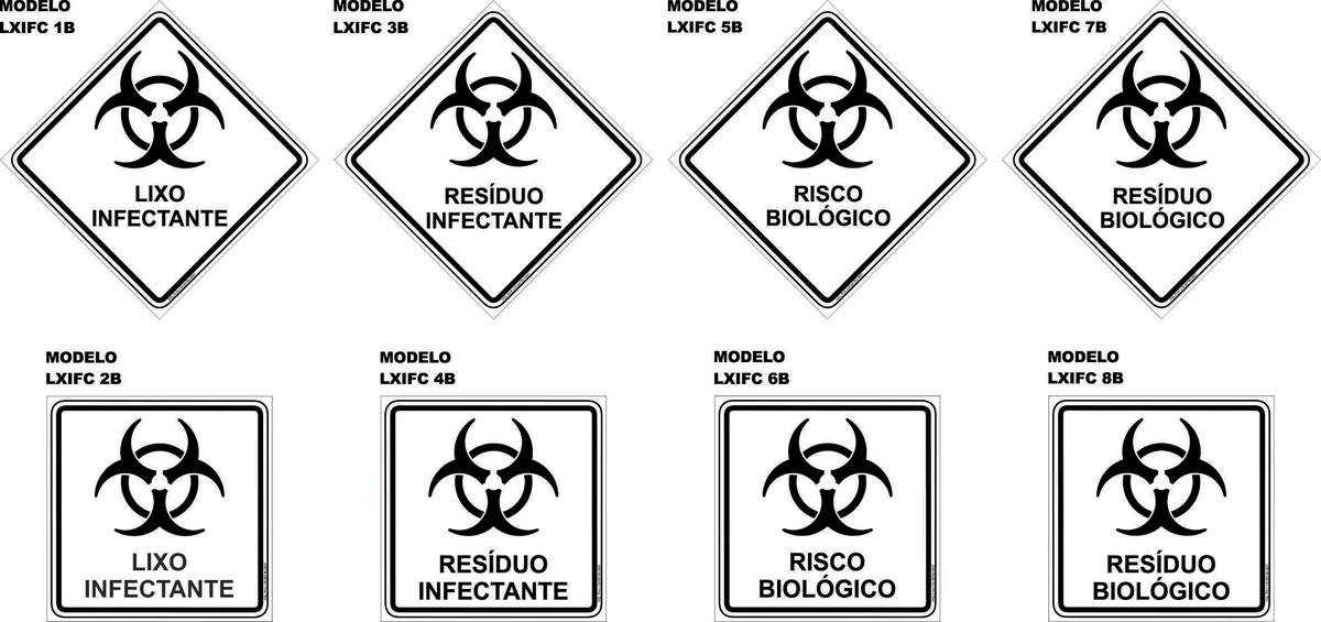 Adesivo Símbolo Da Paz Branco 20 Cm No Elo7: Adesivo Lixo Resíduo Infectante Hospital 15x15 Cm 1