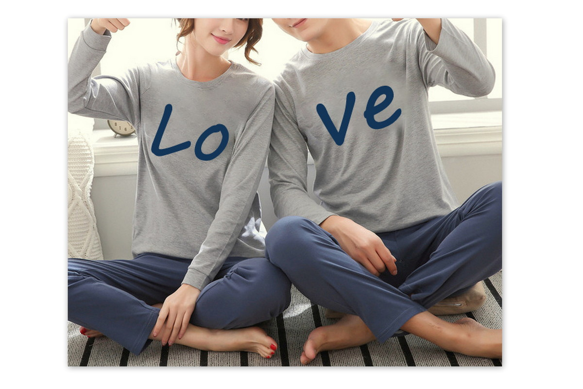 9ed7366296 KIt pijama casal Love no Elo7