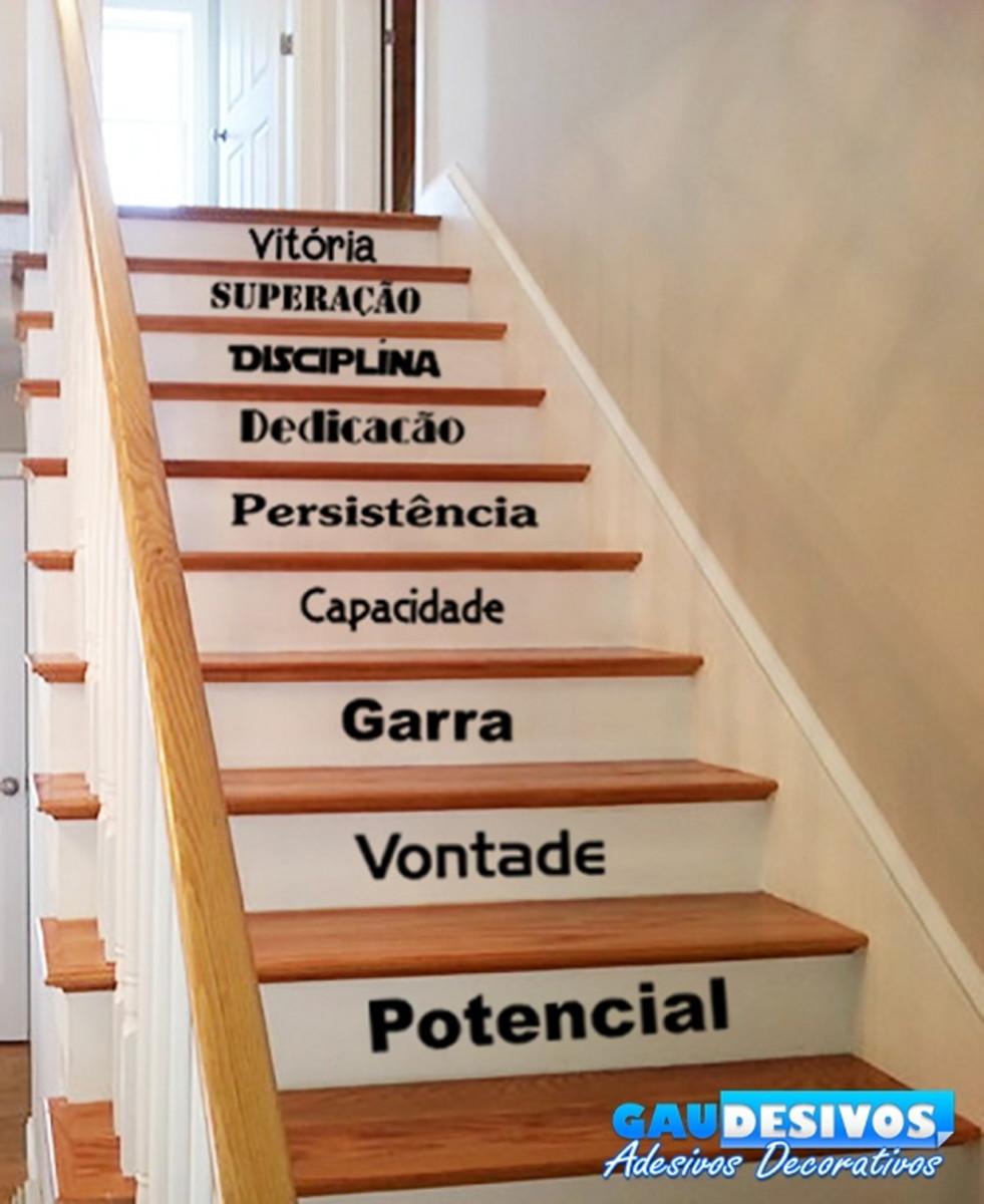 Adesivo Decorativo De Para Escada Ou Parede Frase