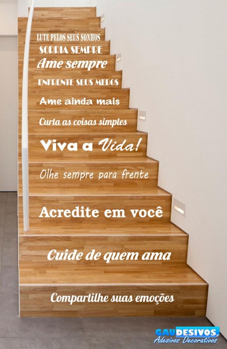 Adesivo Para Escada Ou Parede Frase Lute Pelos Seus Sonhos
