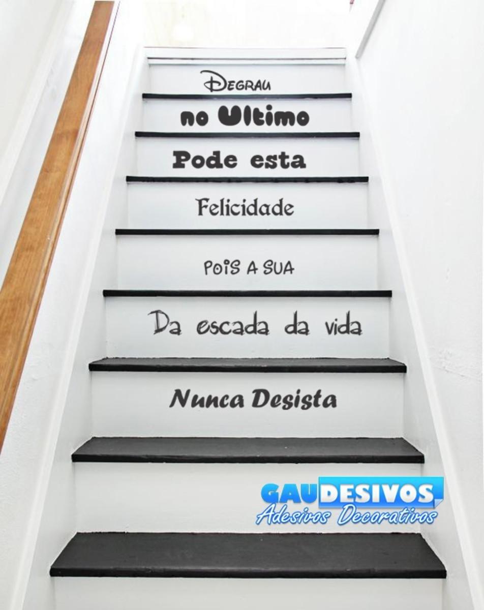 Adesivo Para Escada Ou Parede Frase Ultimo Degrau
