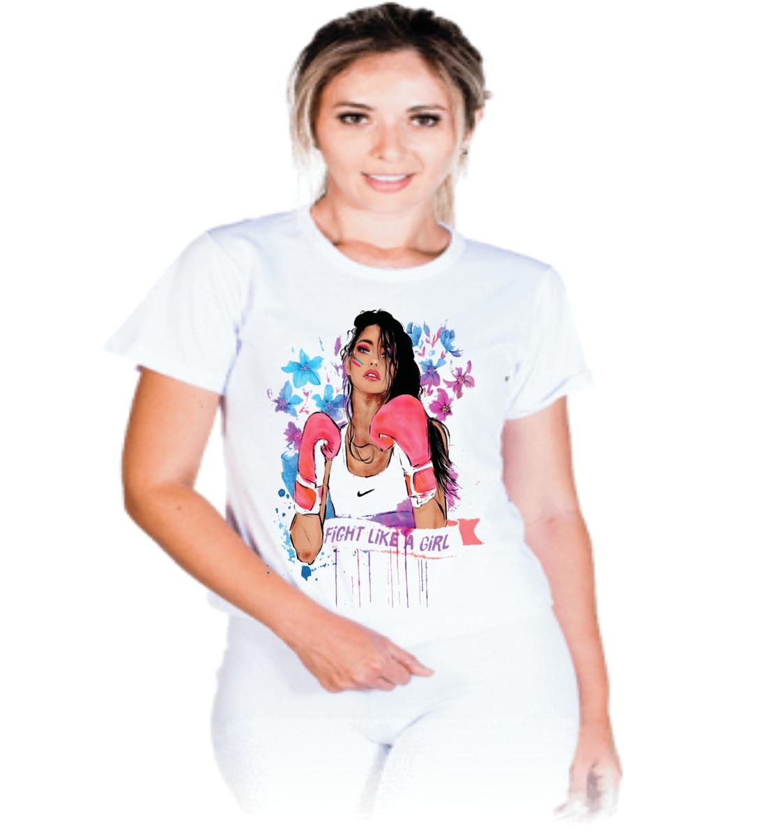4db6de5d7b6ac Camiseta Lute como uma garota  A01 no Elo7