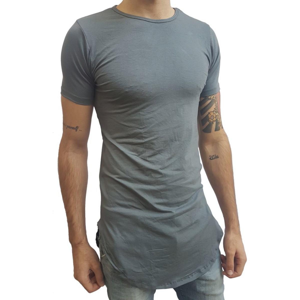 3d2aa10e9e Camiseta Long Masculina Oversized Swag Longline no Elo7