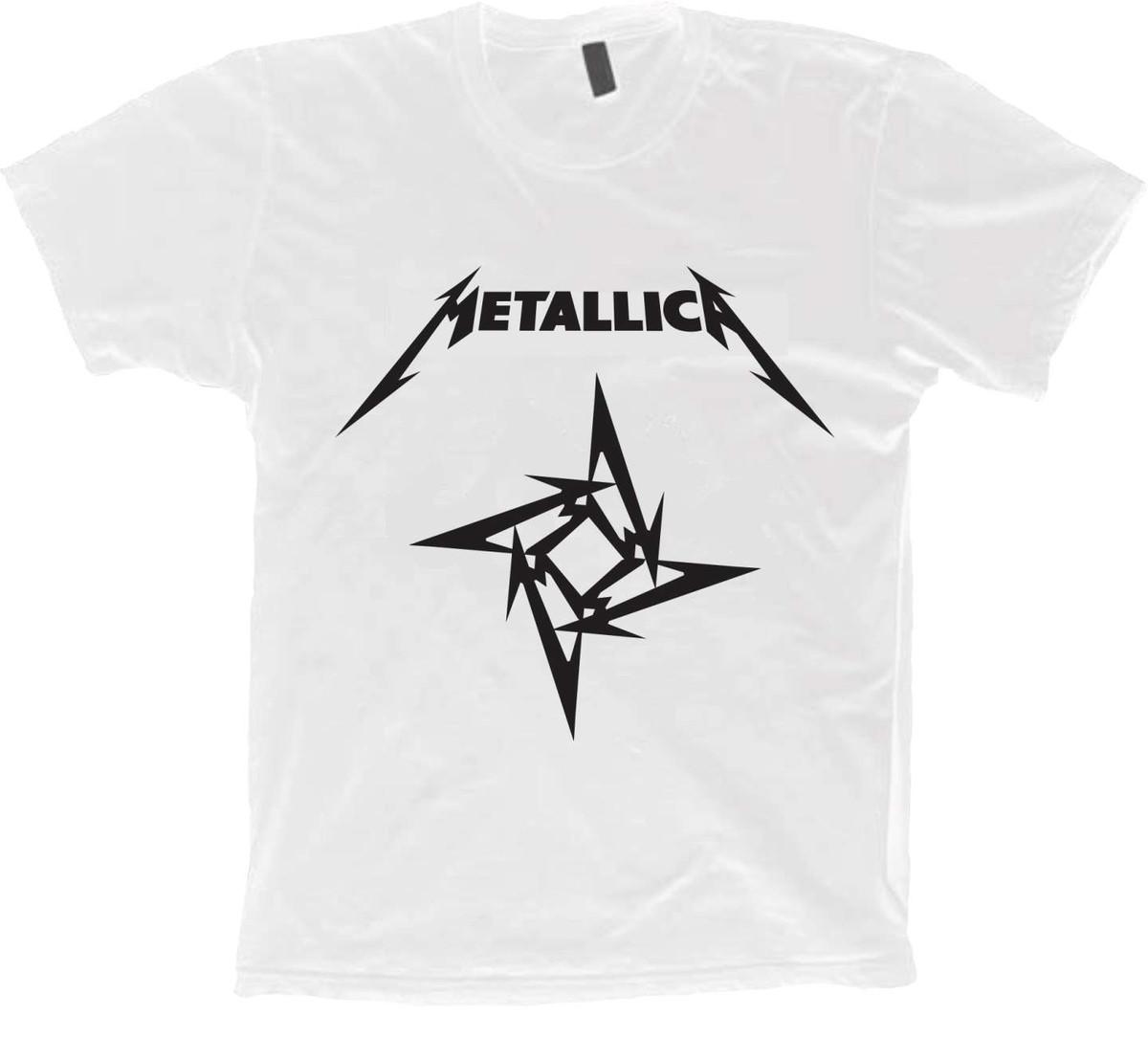 a42f618983f Zoom · Camiseta Bandas Rock - Metallica - 100% Algodão!! ...