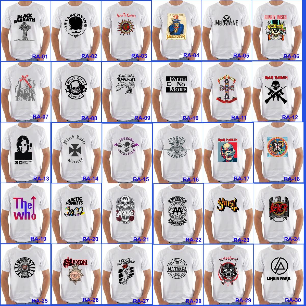 8e4c423bb29 Camisetas Rock Desenhos Animes Variadas no Elo7