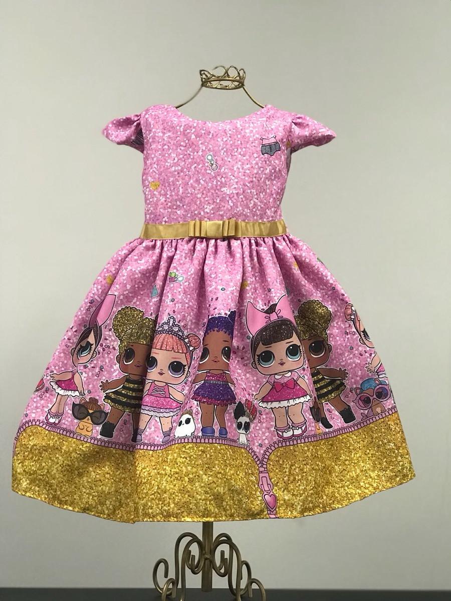Vestido Luxo Lol Surprise Glitter