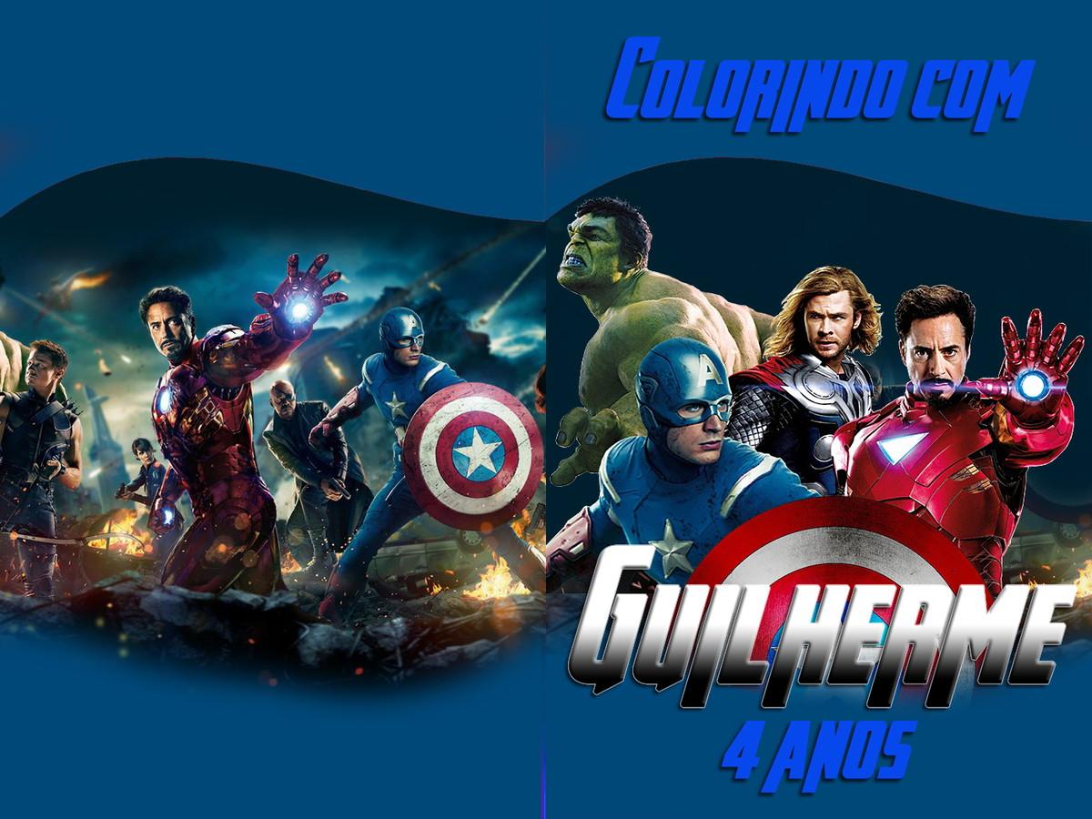 Revista Colorir Avengers Vingadores 14x10 No Elo7 Tudo De Festa