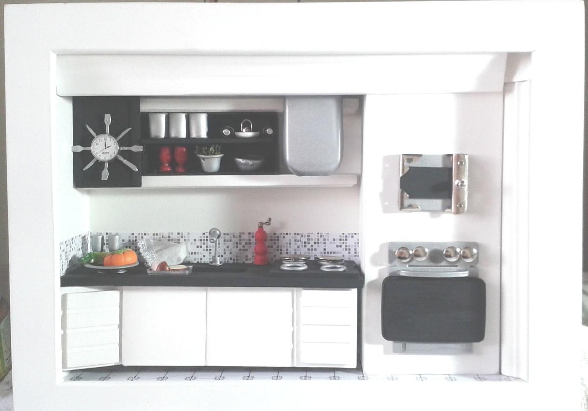 Quadro Cen Rio Cozinha Moderna Em Miniatura No Elo7 Casa Dos