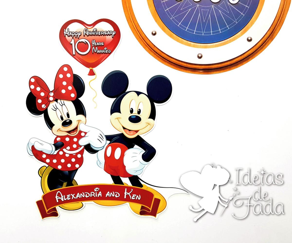 a692a7f395 Imã para Disney Cruise Casal Aniversário de Casamento no Elo7 ...