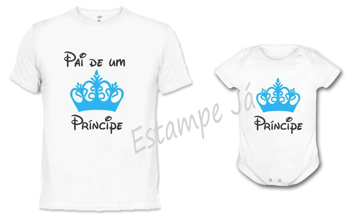 Camisetas De Dia dos Pais Papai de um príncipe Body no Elo7 ... fa6bc56c508b2