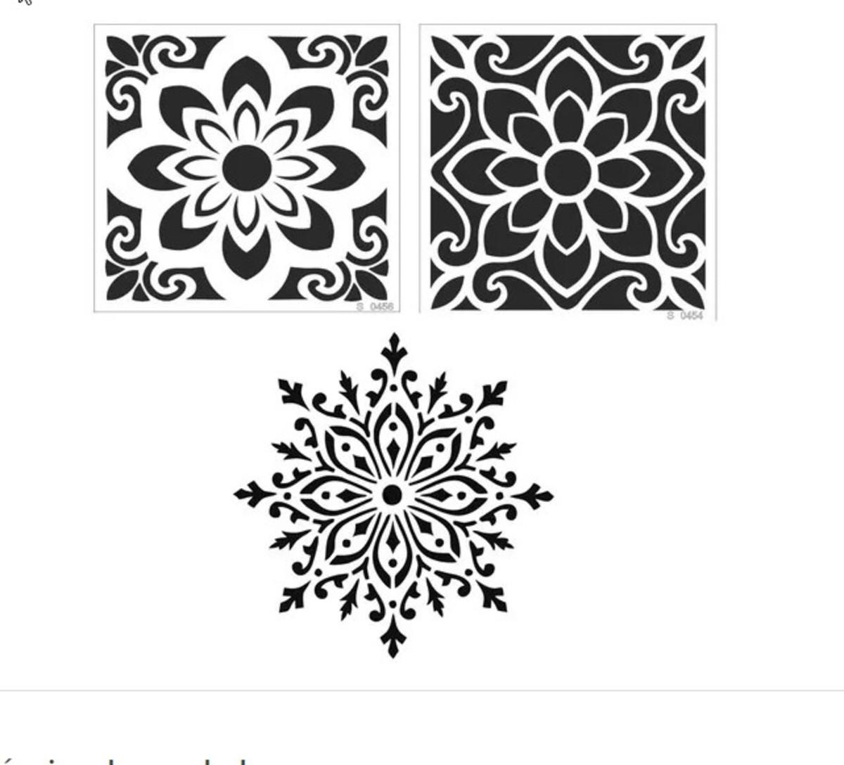 3 Stencil Molde Vazado Mosaico Mandala Pintura No Elo7 Submoda