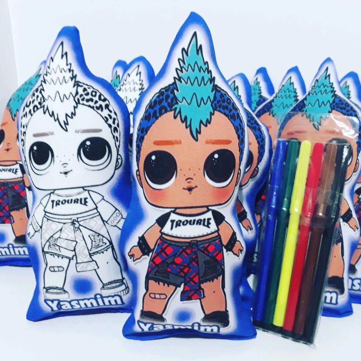 Naninha Recortada 28 Cm Para Colorir Lol Boy No Elo7 Only Gift