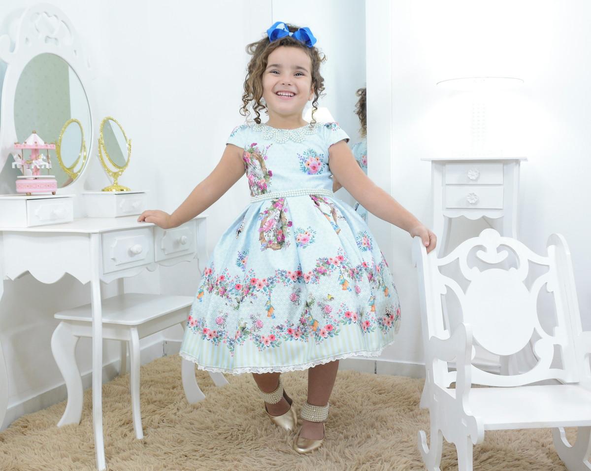 0b34e085b8 Zoom · Vestido infantil jardim encantado
