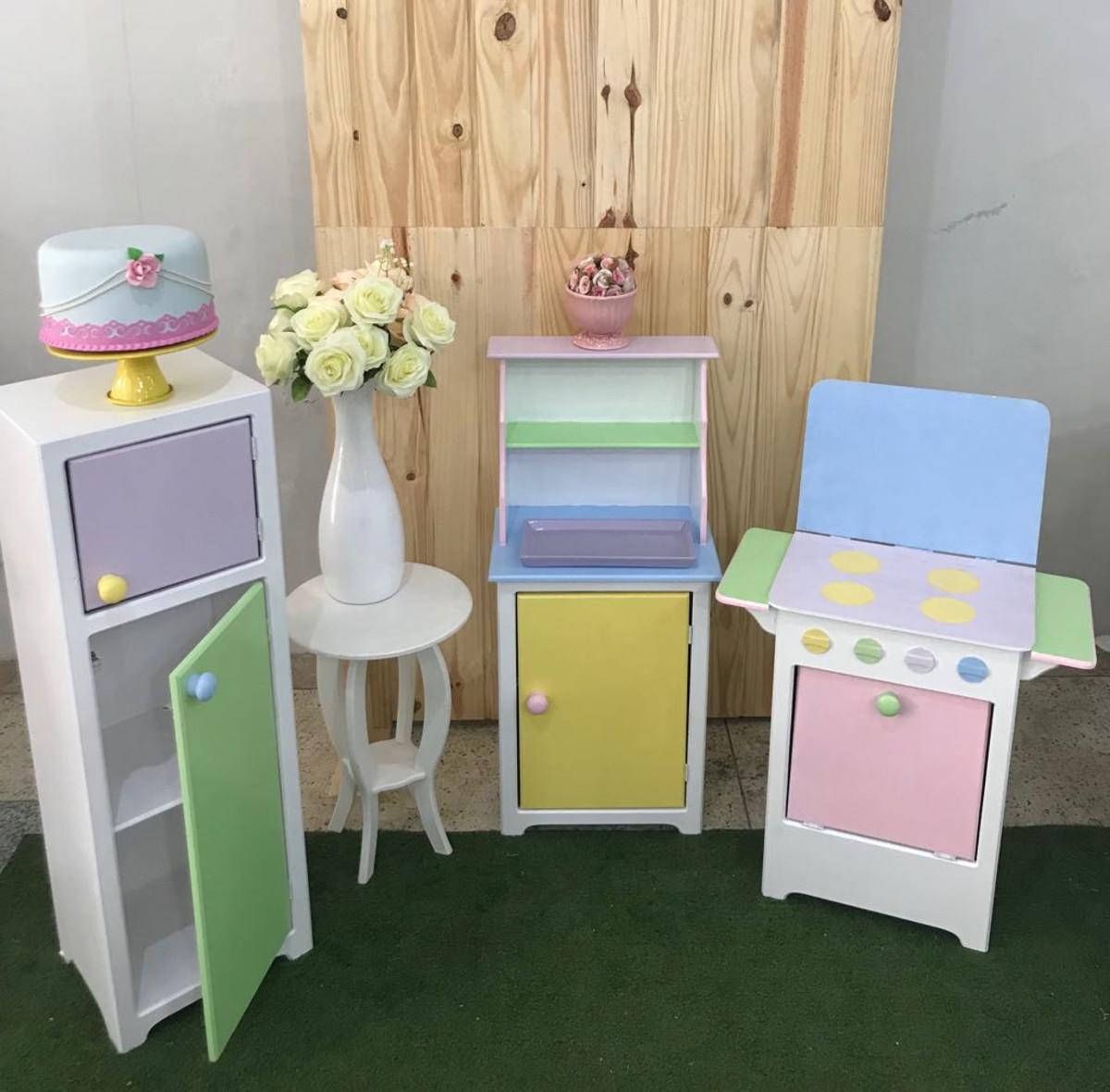 62f8af719 Mini cozinha Mini Móveis Chá de bonecas Mini geladeira no Elo7 ...