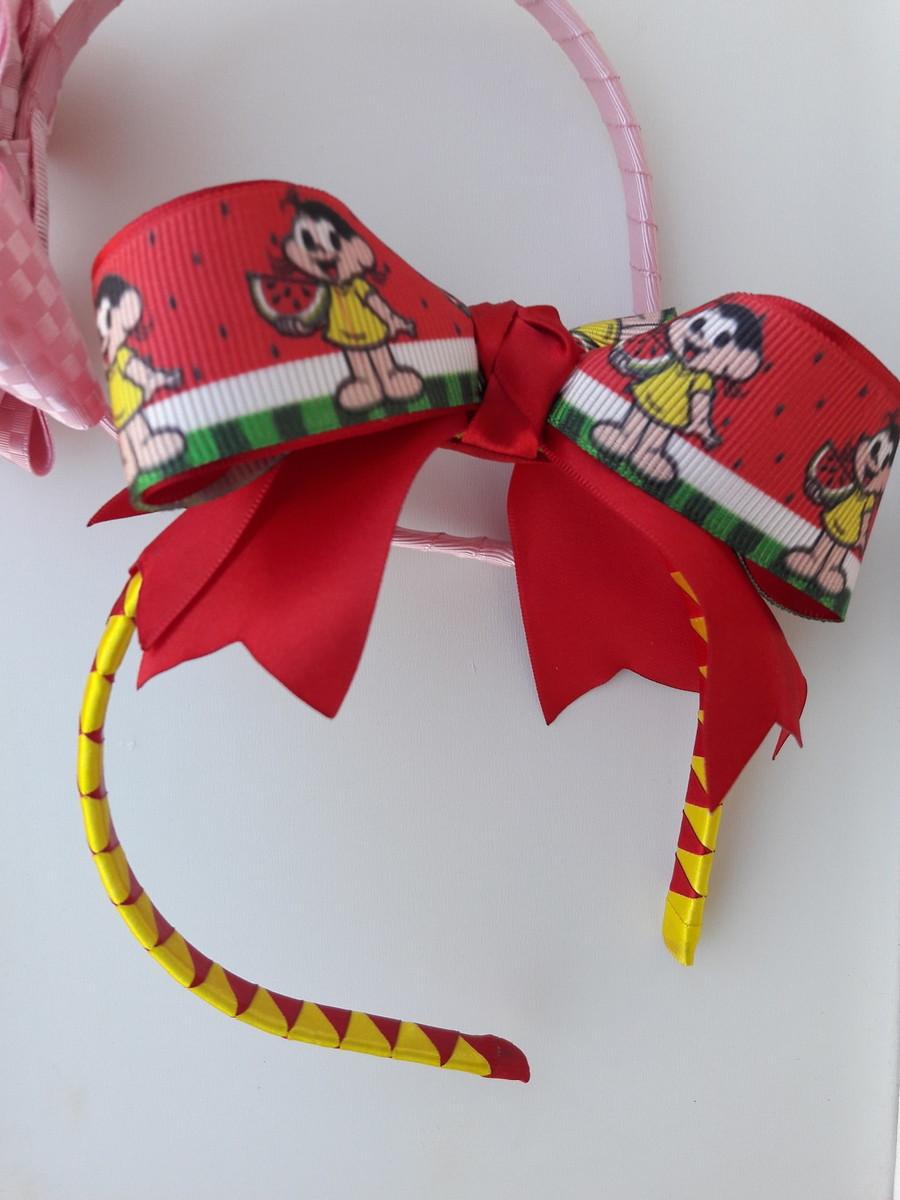 Arco De Melancia Da Magali Tiara Laço De Cabelo Infantil No Elo7