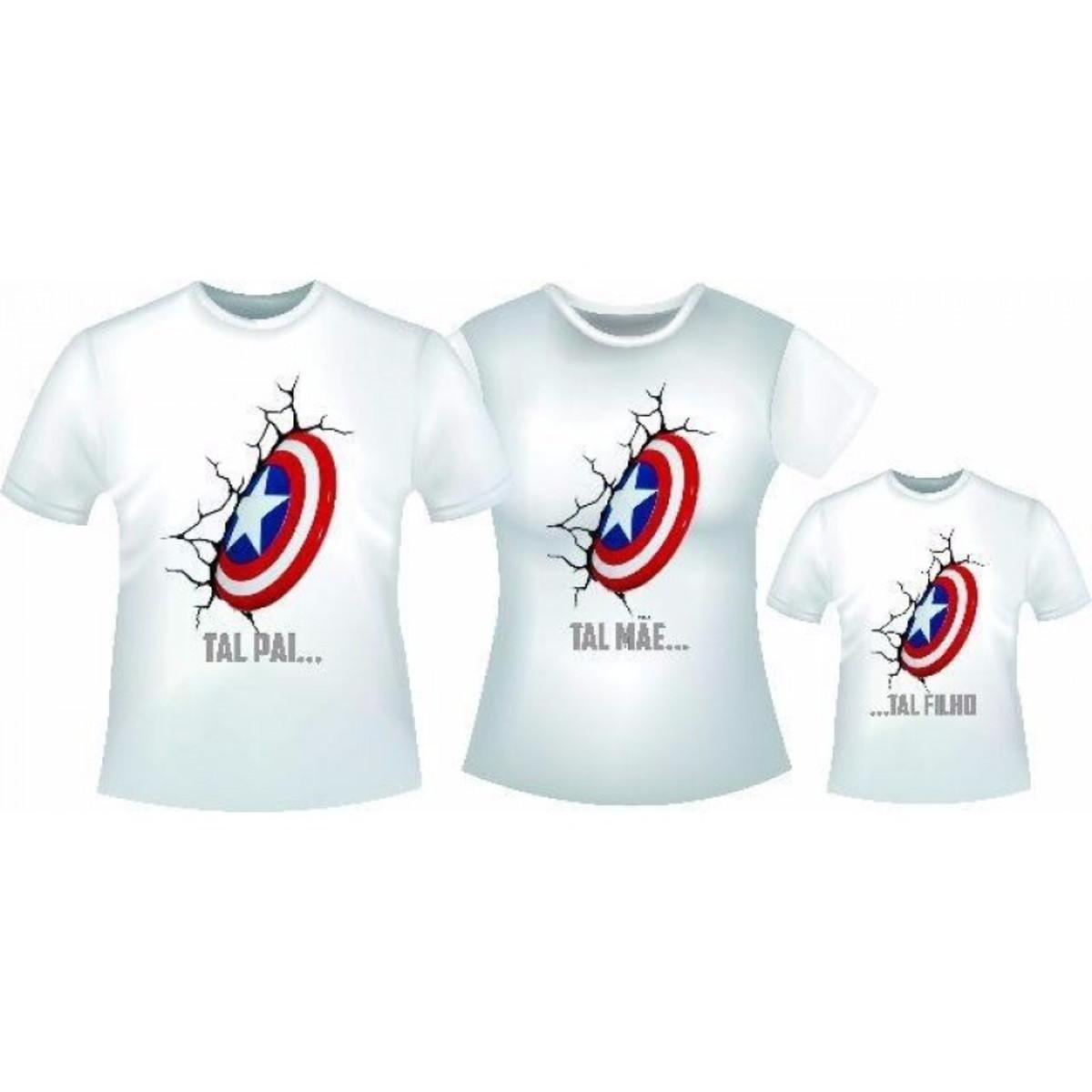 3fe2a228d6613 Zoom · KIT 3 Camisas Personalizadas TAL PAI TAL FILHO