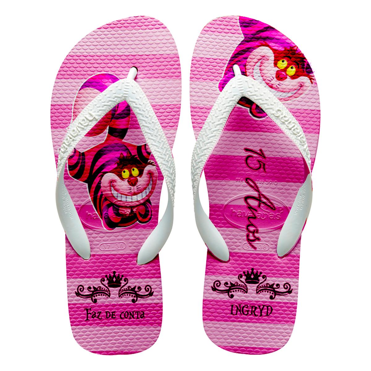 a9482ff671 Chinelos havaianas personalizados Alice 15 anos no Elo7