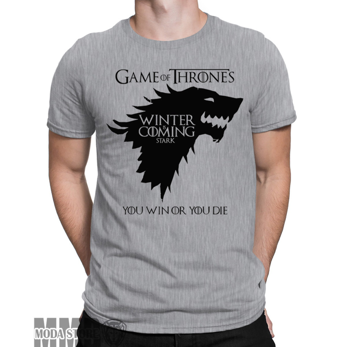 c81e775f4 Camiseta Camisa Game Of Thrones Jon Snow Casa Stark Geek no Elo7 ...