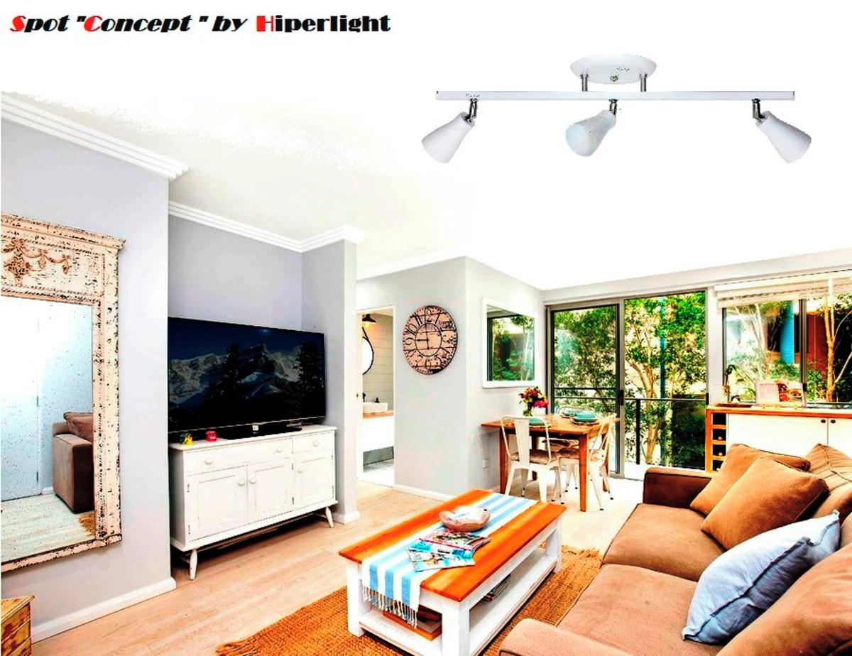 Spot em trilho para 3 lampadas direcionavel gu 10 led sala no elo7