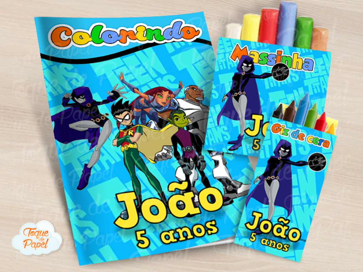 Kit Colorir Giz Massinha Os Jovens Titas No Elo7 Toque De Papel