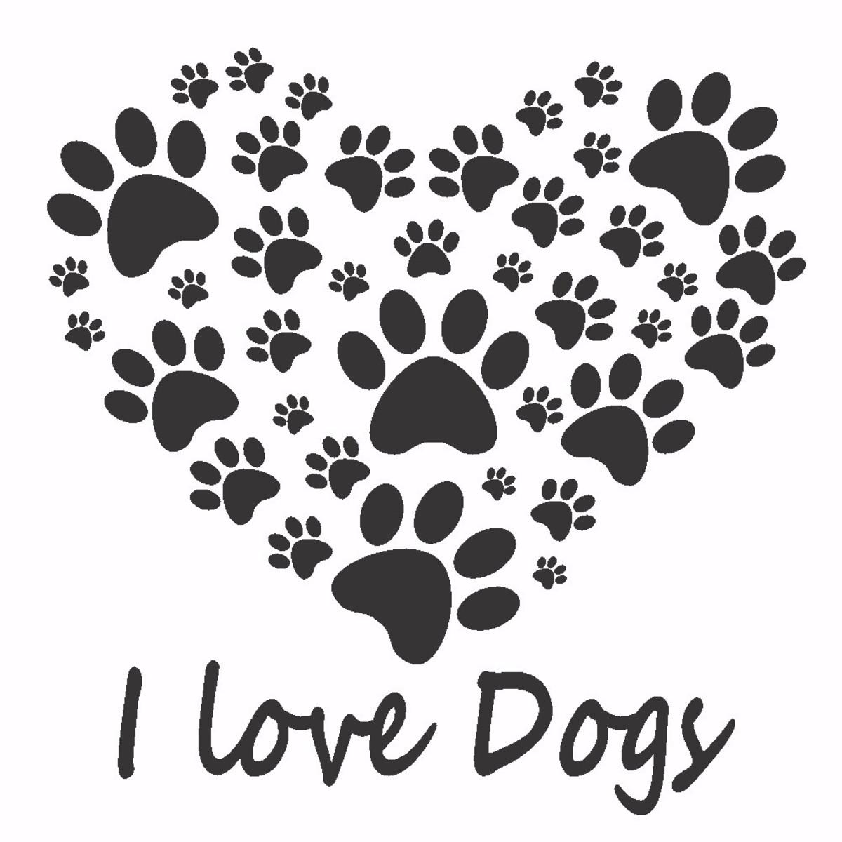 Adesivos Parede Coração Patinhas Dog Cachorro Pet Shop