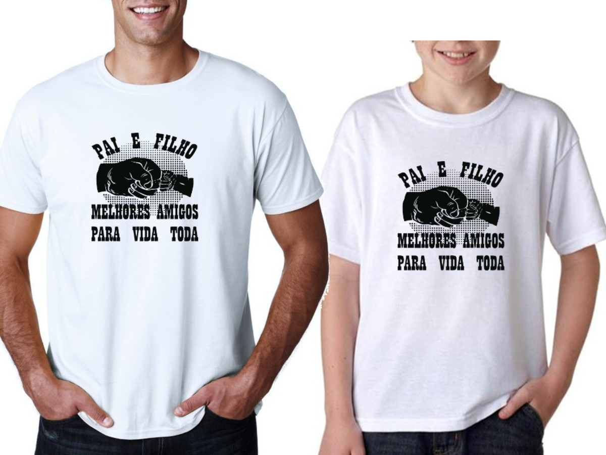 0bc7121692 Camiseta Presente Dia dos Pais Papai Amigo Filho Filha Pai no Elo7 ...