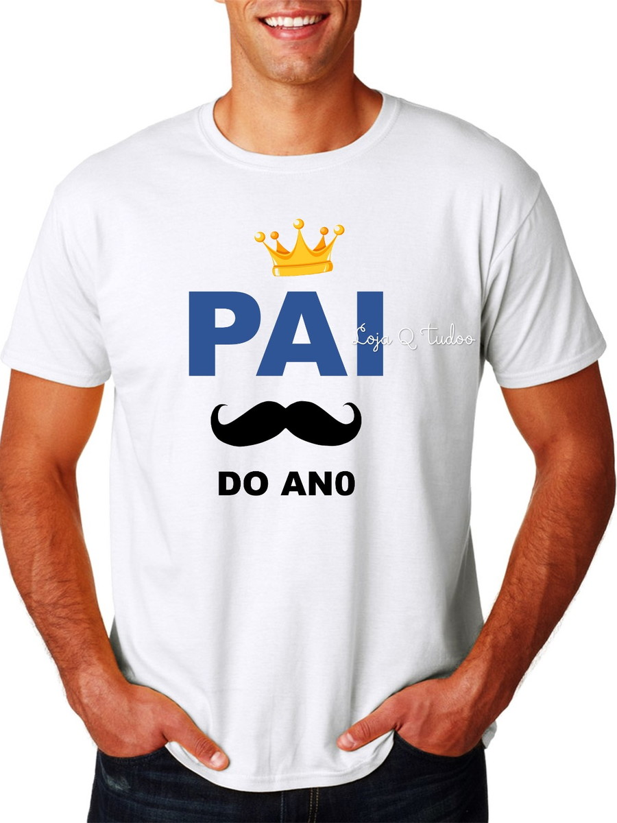 f476bcf76d Camiseta Papai Pai do Ano Surpresa Chá de Bebê Revelação no Elo7