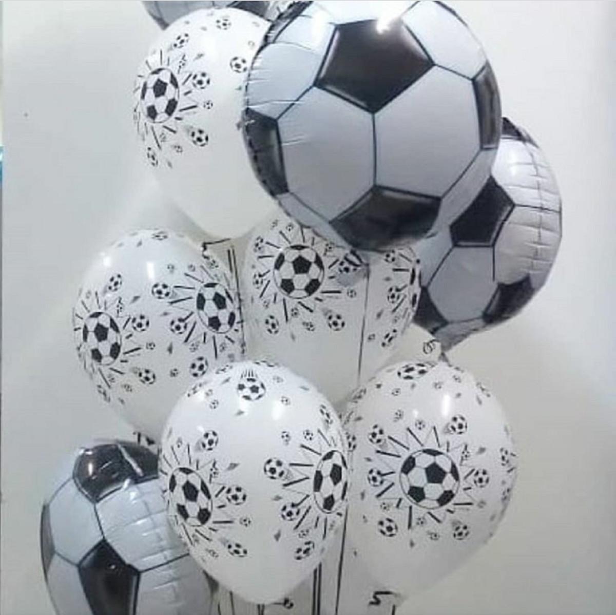 36bbe5018 25 Balões látex futebol + 4 Balões metal. Bola De Futebol no Elo7 ...