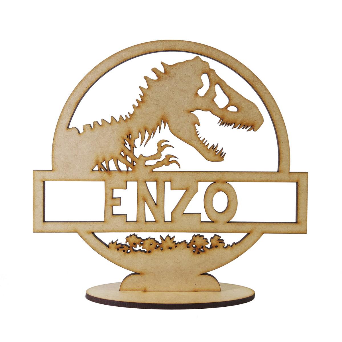 a653d9c065 Kit 10 Centro de Mesa Dinossauro MDF no Elo7 | É Bom Comprar (CD9561)