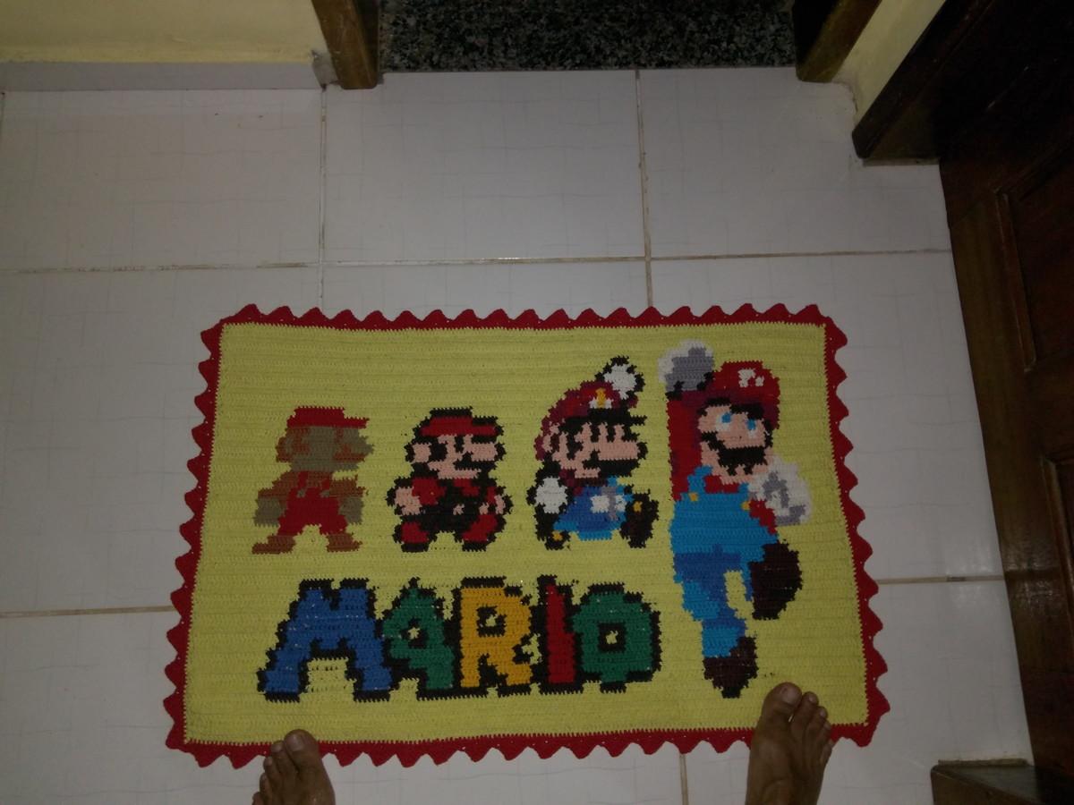 Tapete de Crochê Super Mário