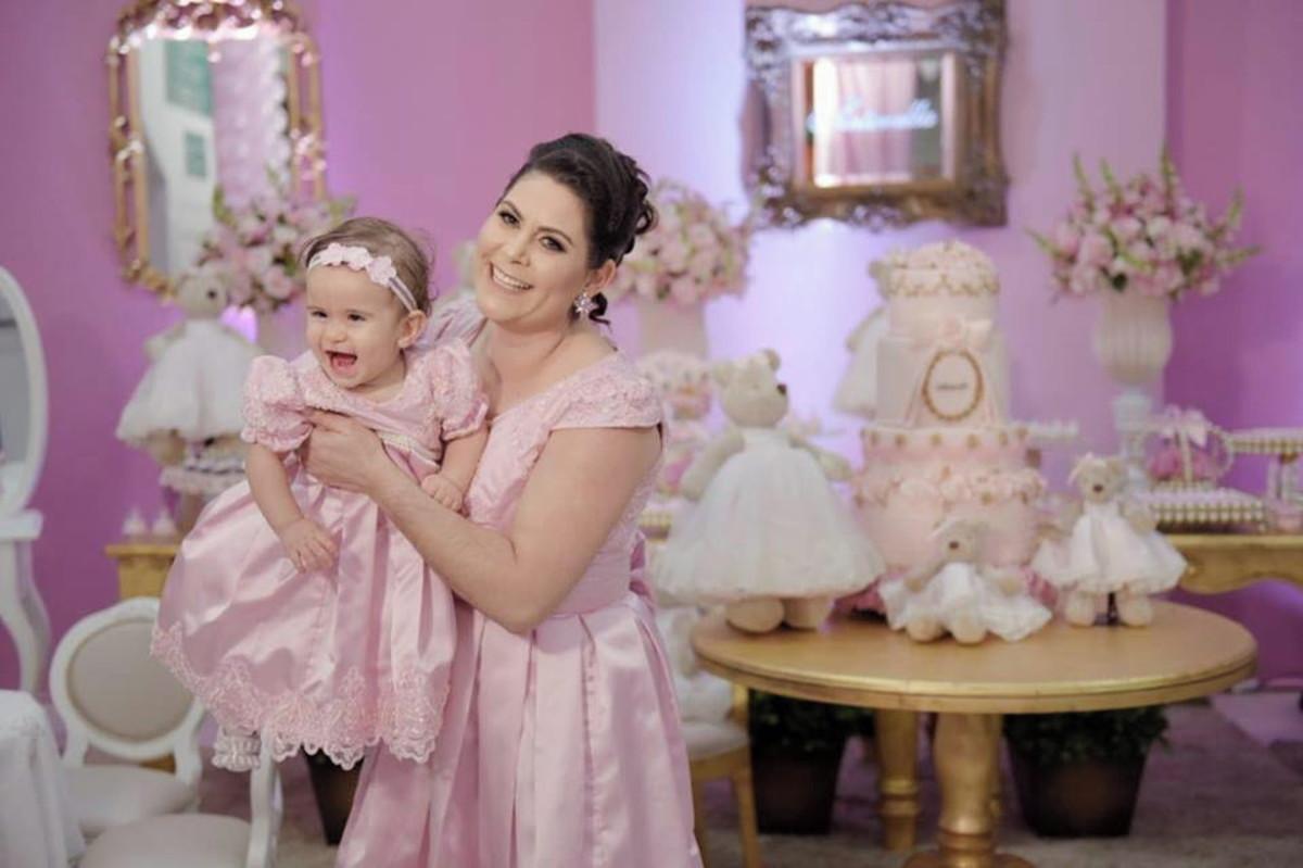 Vestido Luxo Tal Mãe Tal Filha Rosa