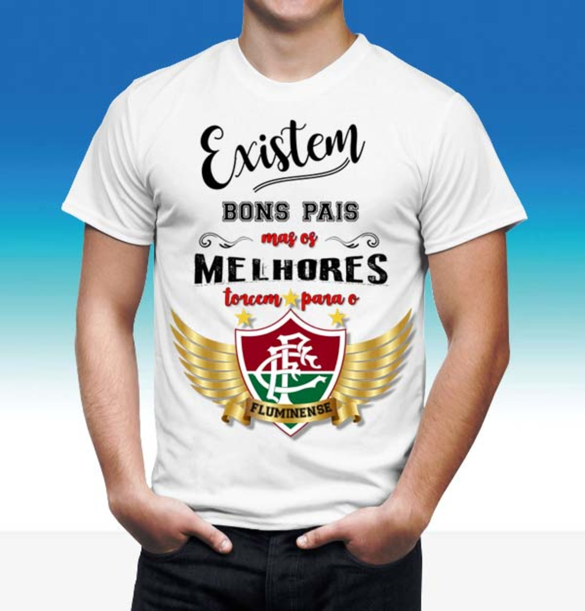 Camisa dia dos Pais Time FLUMINENSE no Elo7  31b0714bf4be7