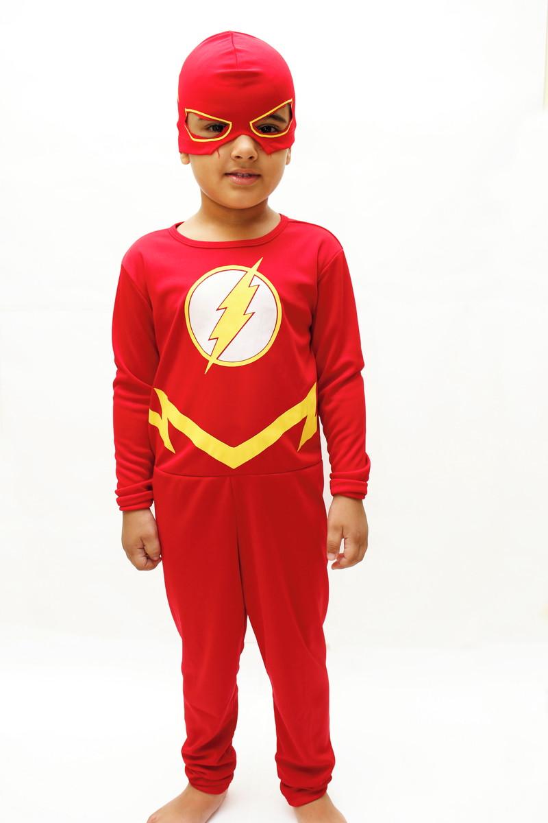 e2e126bc0aaf4c Fantasia Infantil Flash Super Herói Festa Criança Flesh