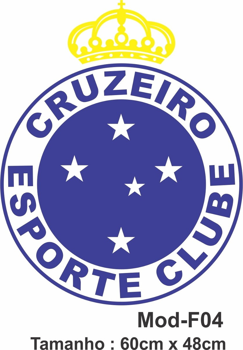 281ecbe19e Adesivo De Parede Cruzeiro Escudo Time Futebol no Elo7