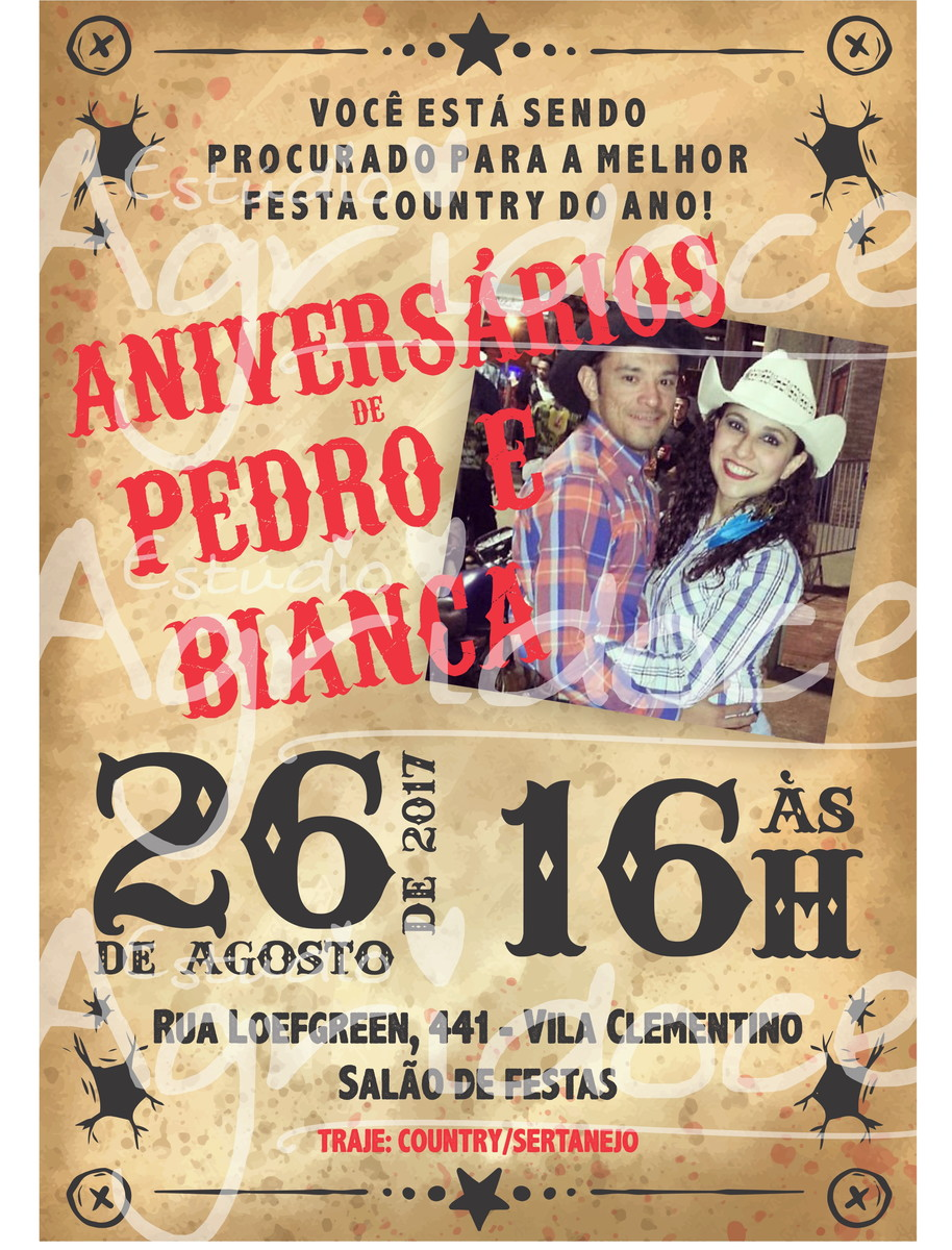 Convite Virtual Festa Country com foto no Elo7  ec257bf91e1