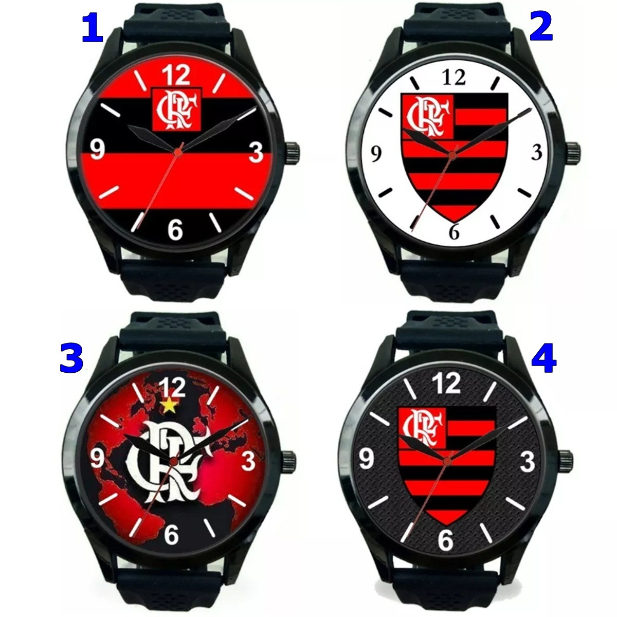 88279b6ddc483 1 Relógio pulso personalizado esportivo Flamengo barato no Elo7 ...