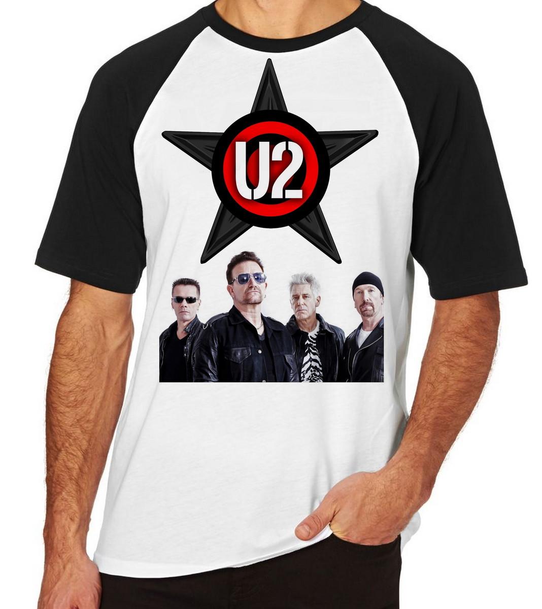 Camiseta Raglan Camisa Blusa U2 Banda Rock Bono Vox Irlanda no Elo7 ... 7d0f1ac12182e