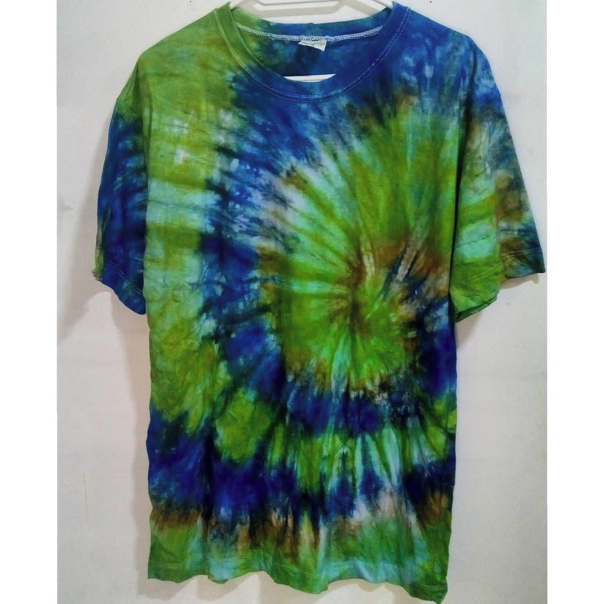 Camiseta tie dye espiral unissex no Elo7  7d30237f3df