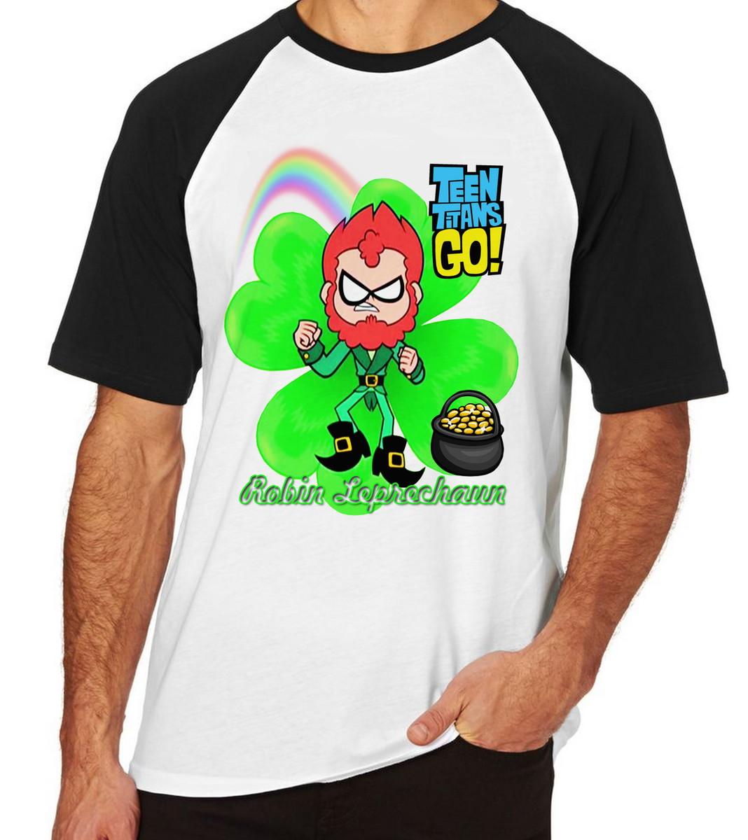 2e50e06b03 Camiseta Raglan Camisa Blusa Robin jovens titãs Leprechaun no Elo7 ...