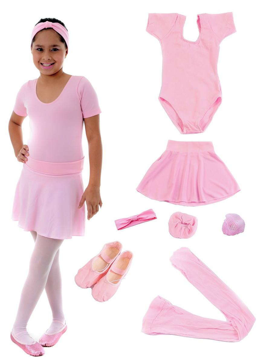 ae80cf2f02 Roupa de Ballet infantil com bolsa na promoção no Elo7