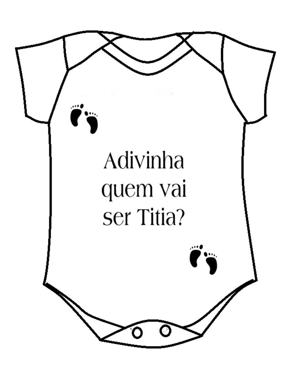 Body Adivinha Quem Vai Ser Titia No Elo7 Luciano Calegari Ce1c78