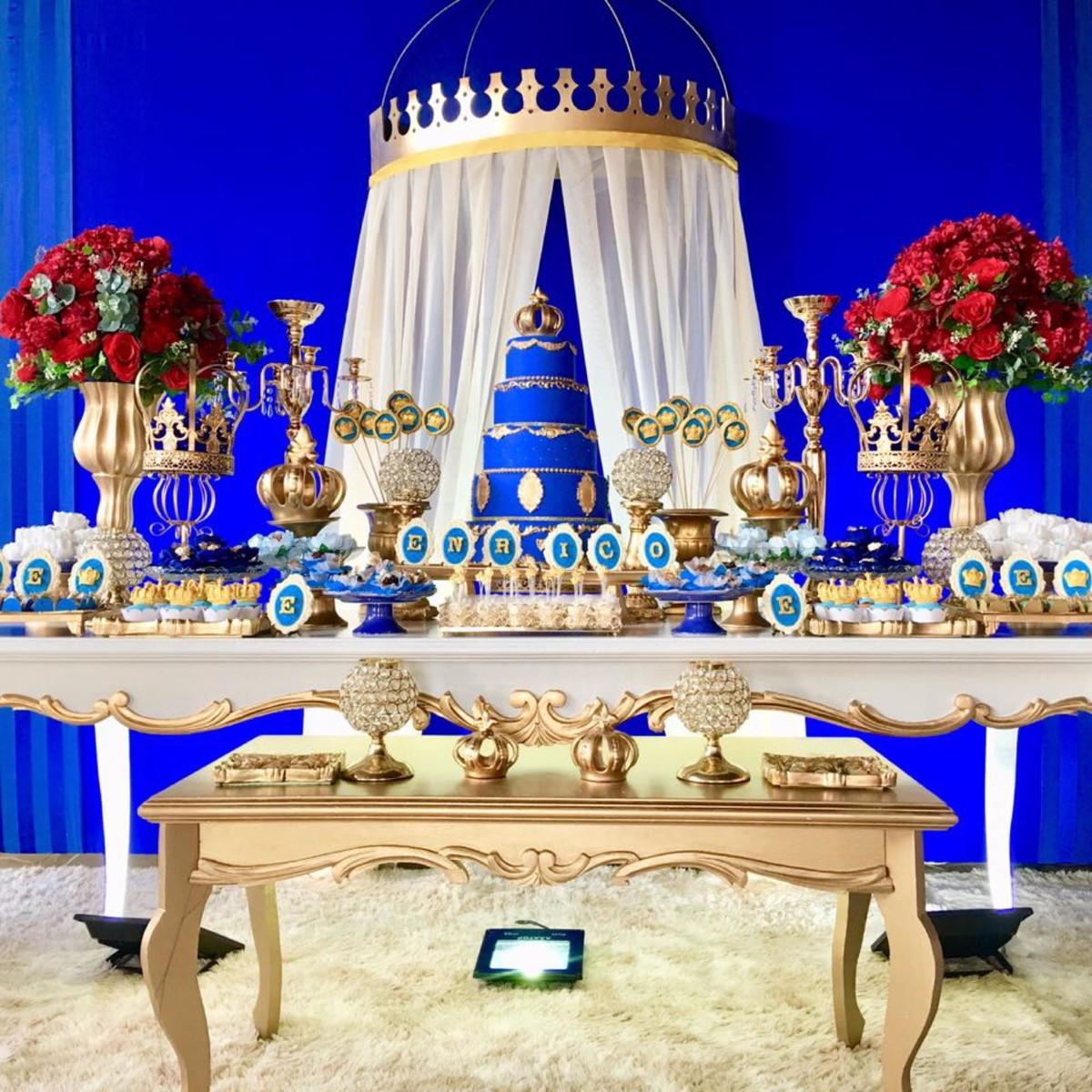 Festa Príncipe Realeza p Locaç u00e3o no Elo7 L M Decora Festas (CE4194) # Decoração De Festa Infantil Realeza
