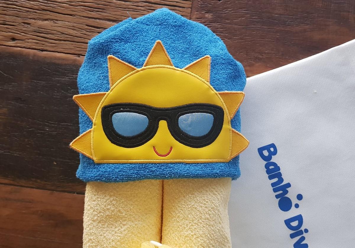 6c3bd52427d1 Toalha com Capuz Boy Sun 3D no Elo7 | BANHO DIVERTIDO (CE41CB)