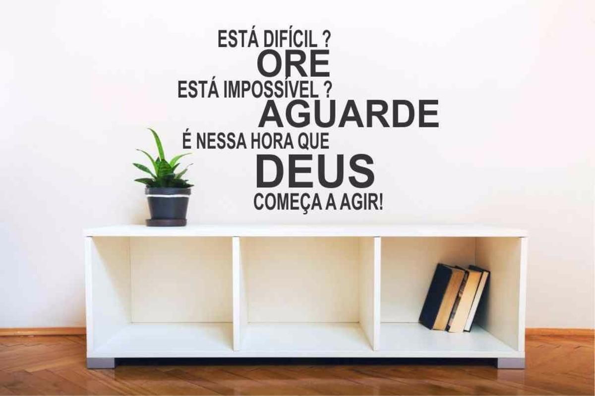 Adesivo Parede Fé Deus Esperança Quarto Decoração Sala No Elo7