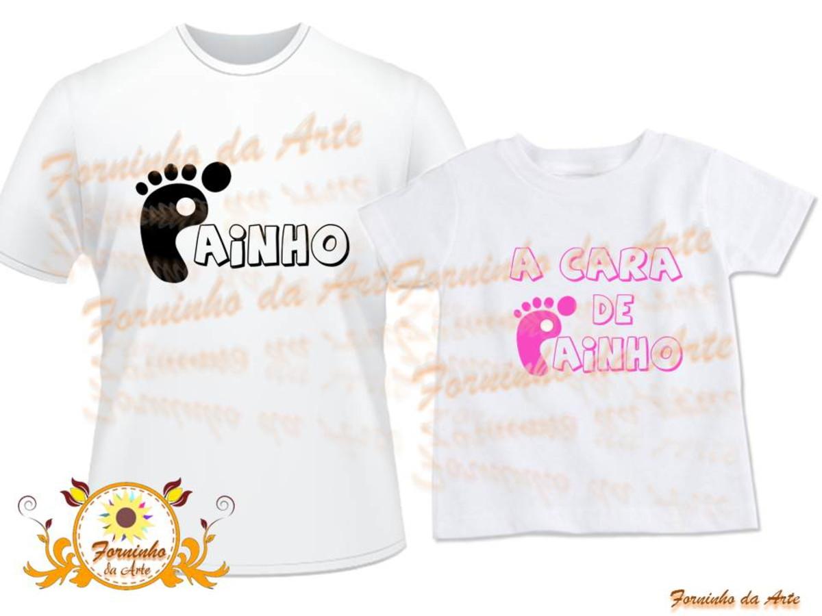 Camisetas Personalizadas kit 2 peças no Elo7  c439891719a74