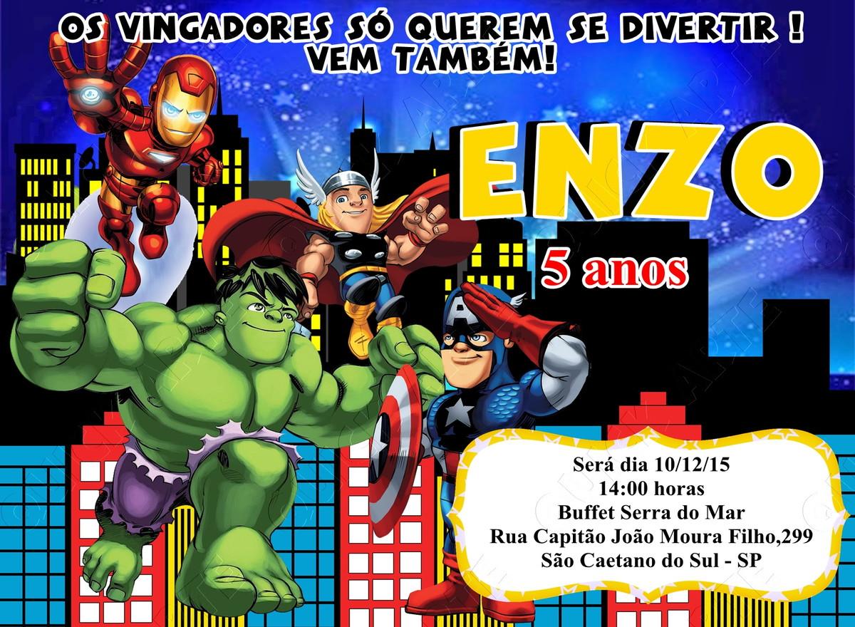 Convite Digital Vingadores Imprimir Ou Postar No Elo7 Gira Festa
