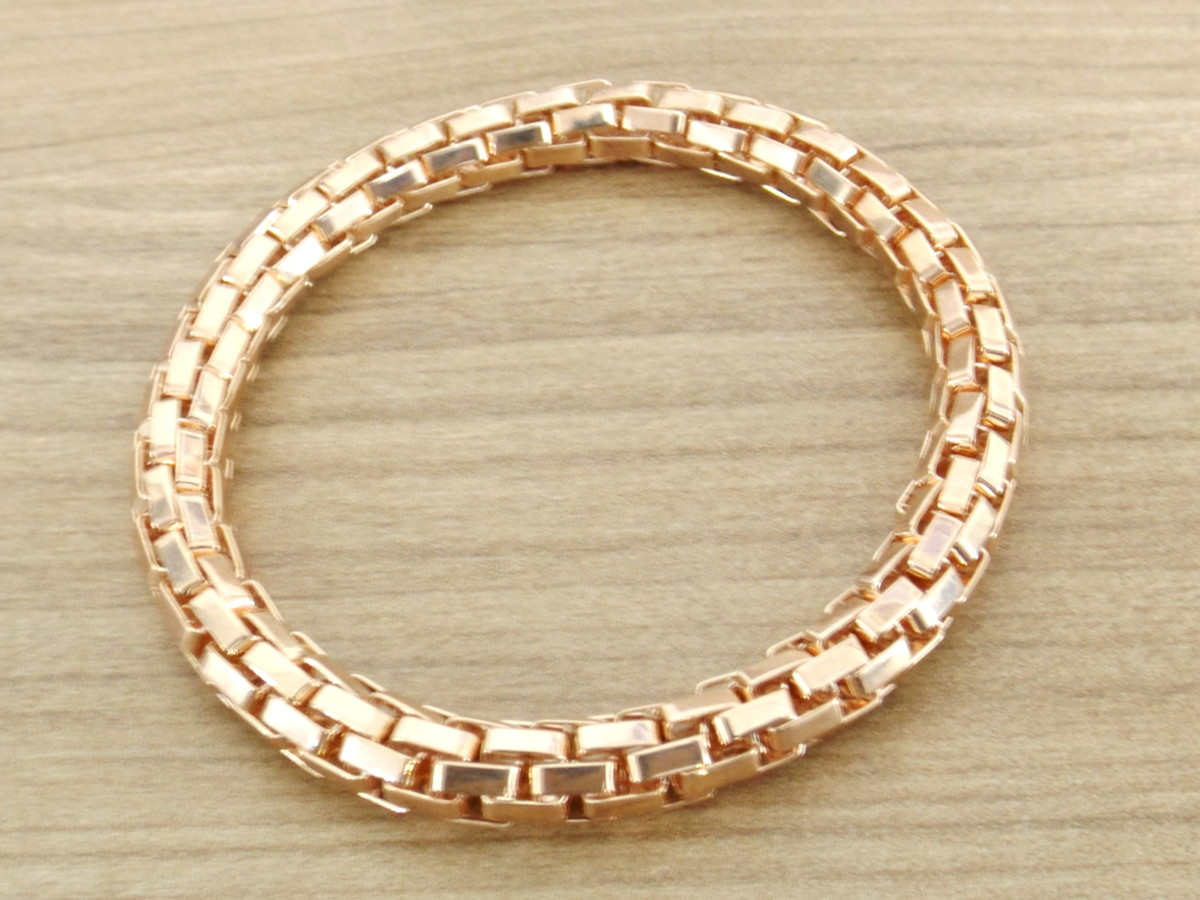 6d24b1dcd0 Pulseira Bracelete Feminino Folheada Ouro Rosê no Elo7