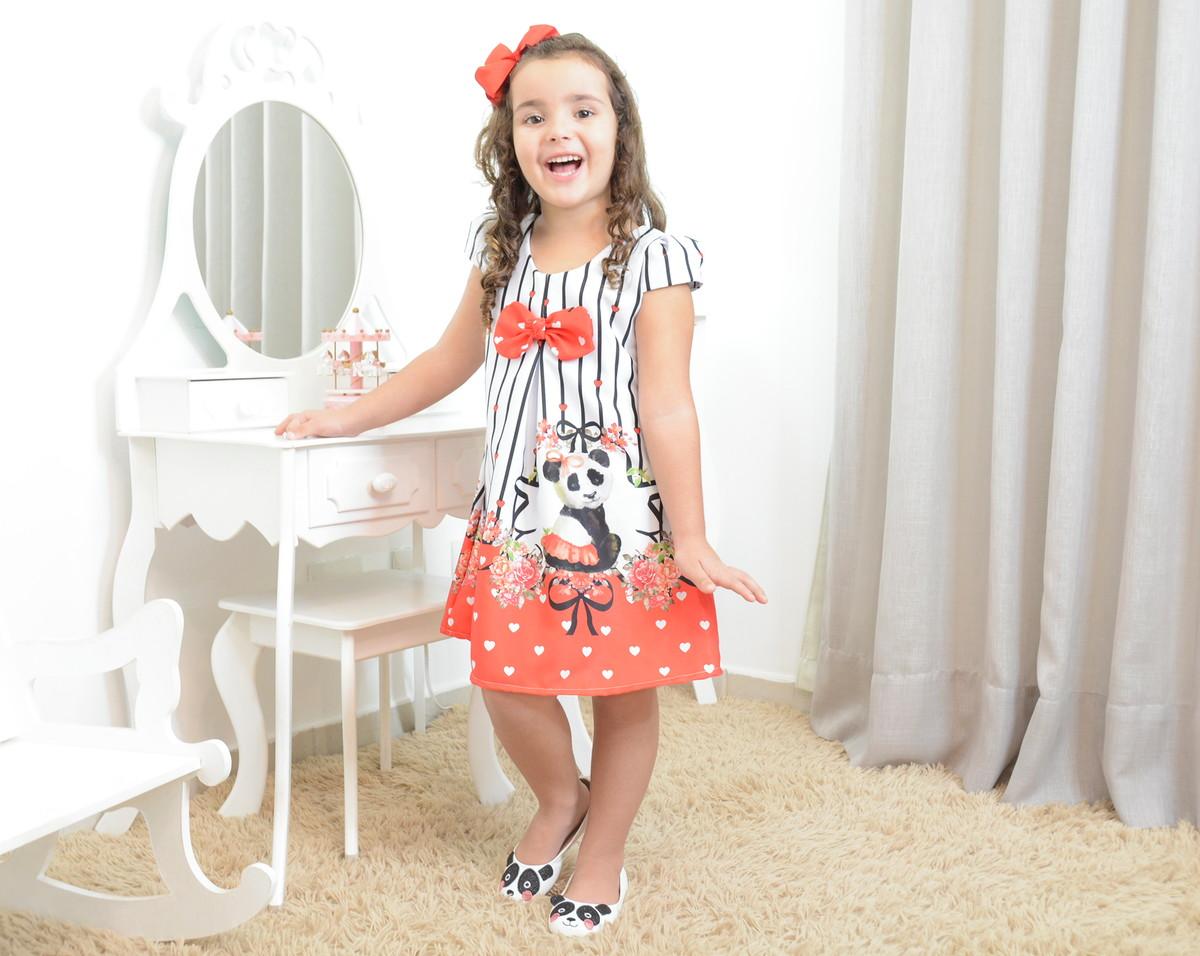 f55395d3c16 Vestido infantil festa floral e a panda bailarina - tubinho no Elo7 ...