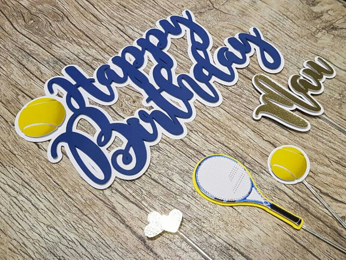 Cake Topper - TOPO BOLO - Happy Birthday Tênis no Elo7  fd7d64203dc32
