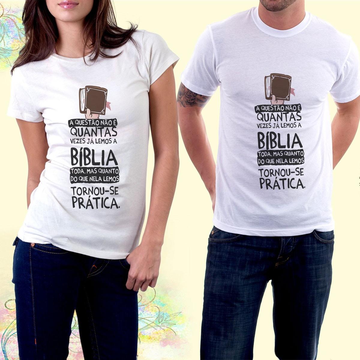 9aacec2137 kit com 2 Camiseta personalizada com frases evangélicas no Elo7 ...